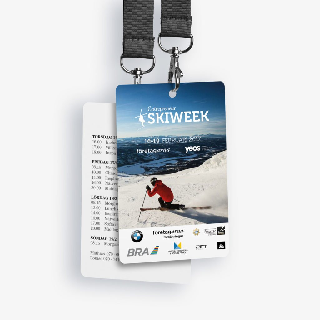 Plastkort Skiweek 2017