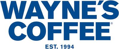 logo waynes coffee - Plastkort.nu – Beställ billiga plastkort med eget tryck