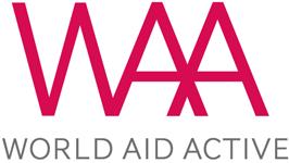 logo world aid active - Plastkort.nu – Beställ billiga plastkort med eget tryck
