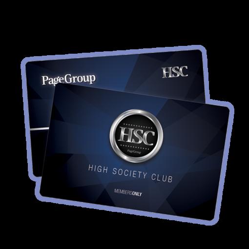 Plastkort - High Society Club