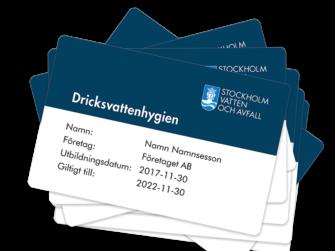 Plastkort - Stockholm vatten