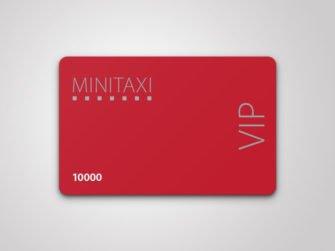 Plastkort offsettryck Minitaxi